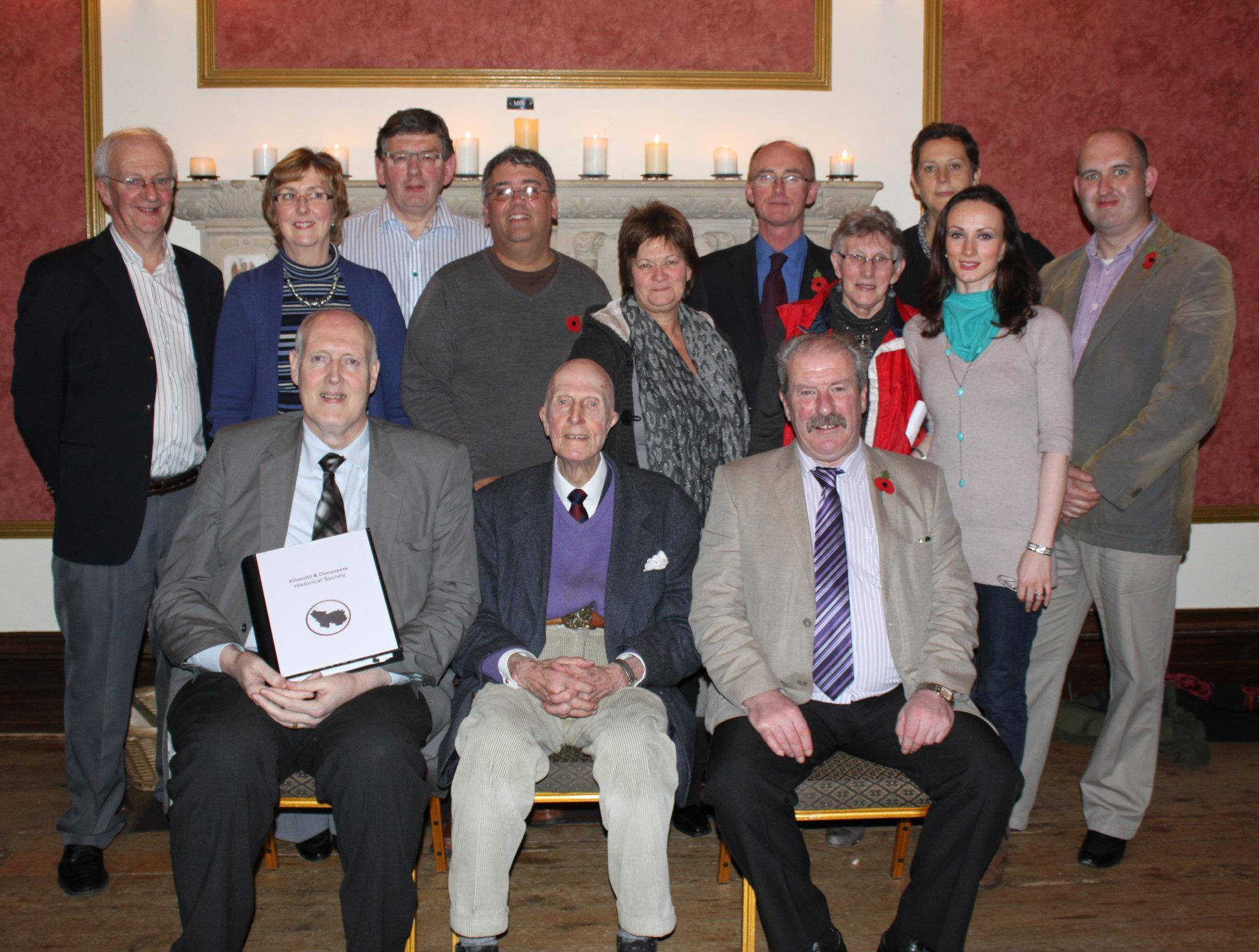 Members of Killeeshil Clonaneese Historical Society with Sir Jack Leslie Nov 2011